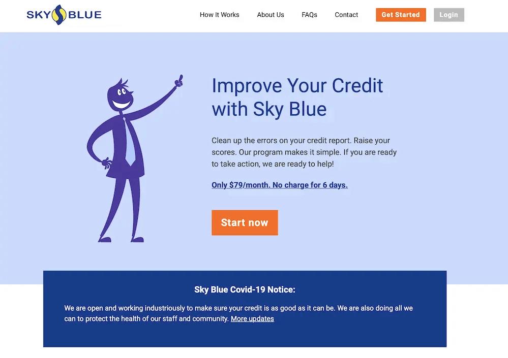 Features of skyblue credit repair program